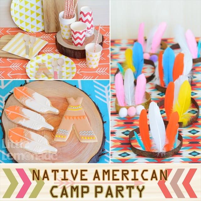 ネイティブアメリカン キャンプ パーティー プランニング : Native American Themed Party Planning