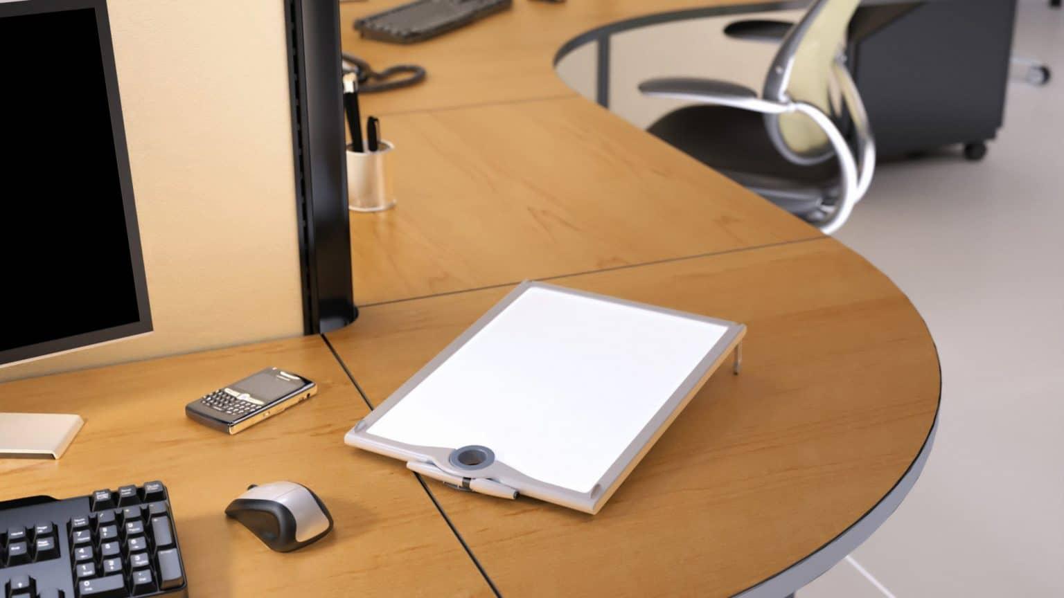 Tenex Personal White Board Contract Office Desk