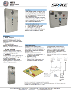 Manual Transfer Switch Manual Cover by Spike Electric