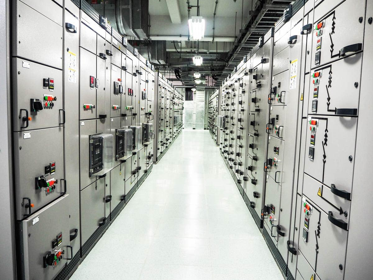 System integration at substation in industrial zone at power plant