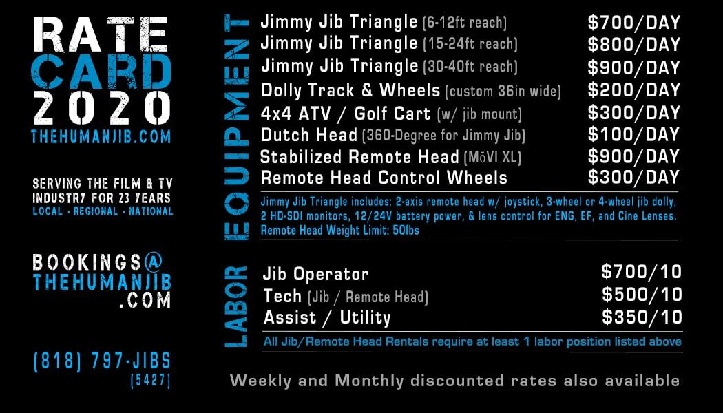 jib operator rates - jib operator rate card