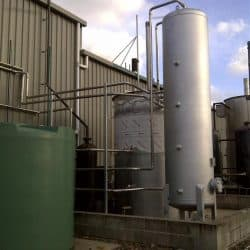 Industrial stainless steel piping