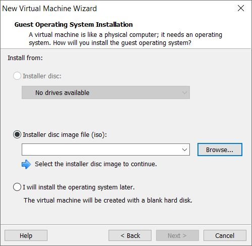 Choose installation source - ISO