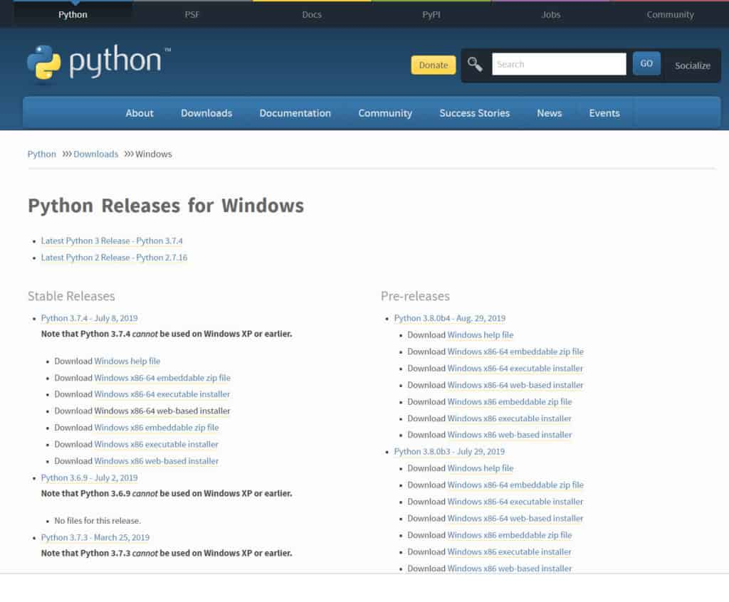 Python 3 - downloading from page