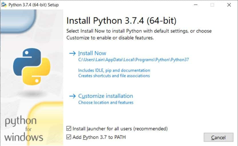Python 3 - standard installation process