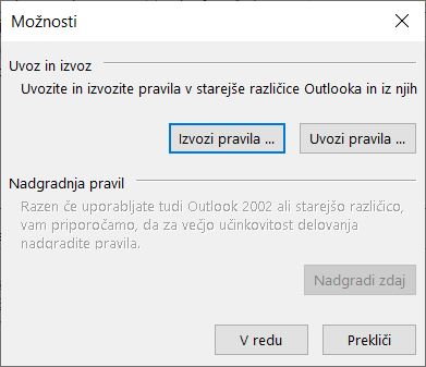 Outlook - import export rules