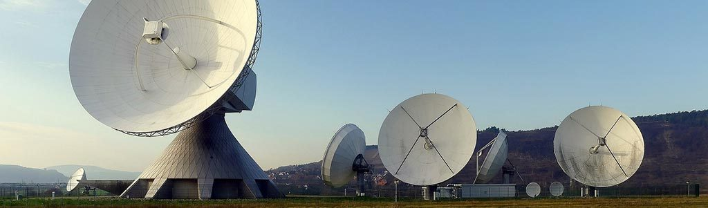 Radars listening for signals from space