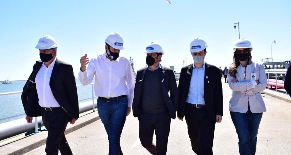 Kicillof visita por primera vez el Puerto de Bahía Blanca