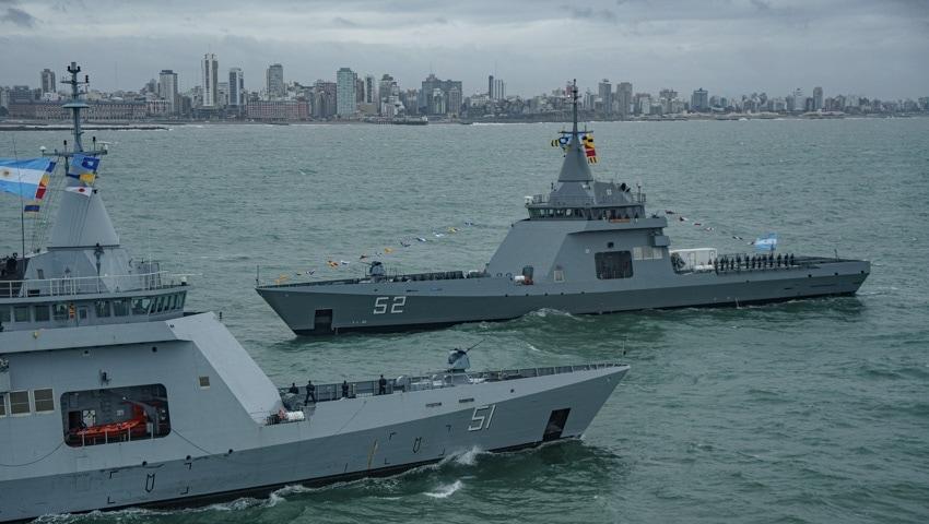"""Arribó el nuevo patrullero océanico ARA """"Piedrabuena"""" en la Base Naval Mar del Plata"""
