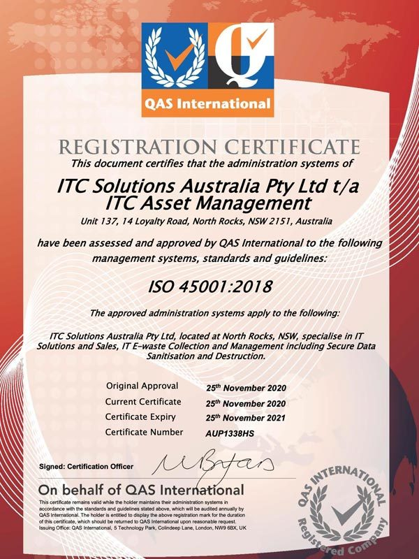 ITC_Asset_Management_ISO_certification_45001