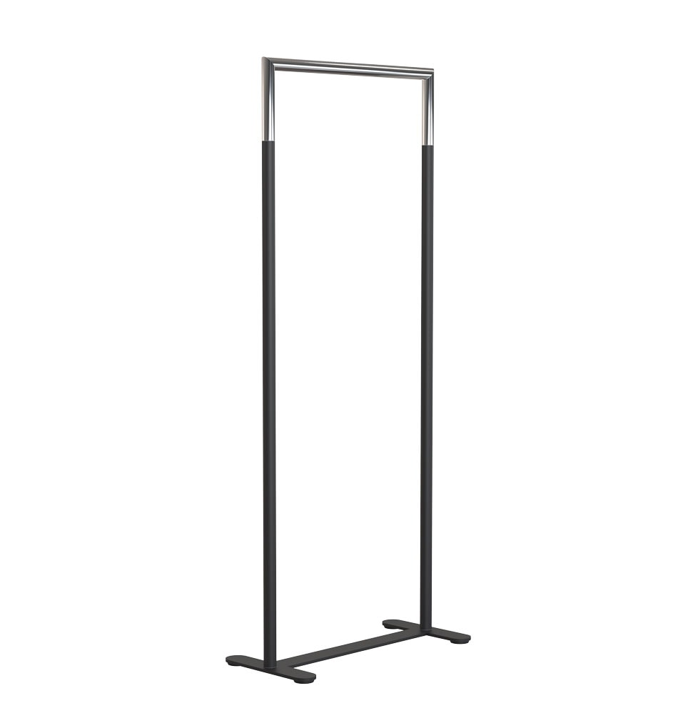 U6002 Clothes Rack Black Stainless
