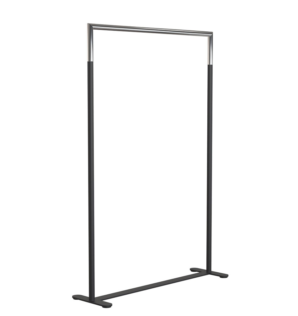 U6003 Clothes Rack Black Stainless