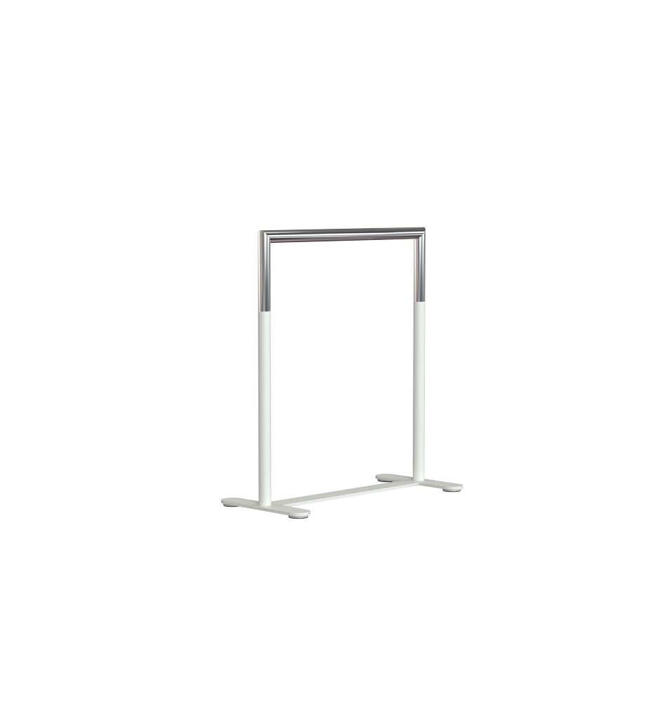 U6006 Table Rack White Stainless