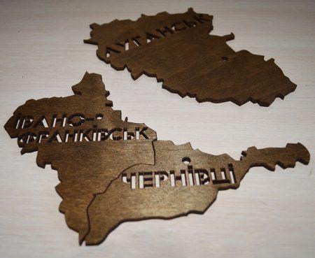 Карта Украины пазл