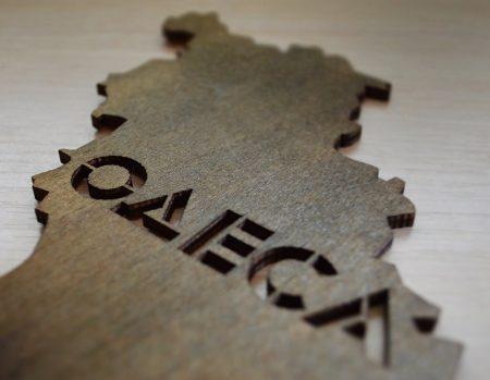 Карта Украины из дерева купить