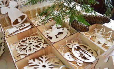 Деревянные елочные игрушки купить