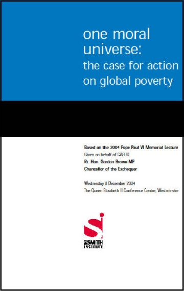One Moral Universe: The case for action on global poverty
