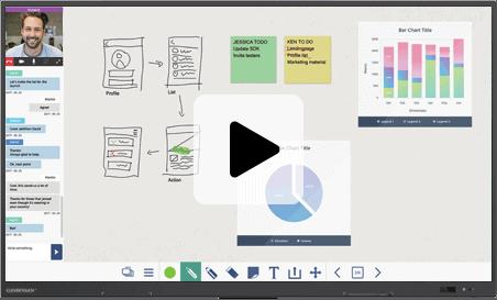 logiciel travail collaboratif écran interactif