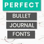 bullet journal fonts