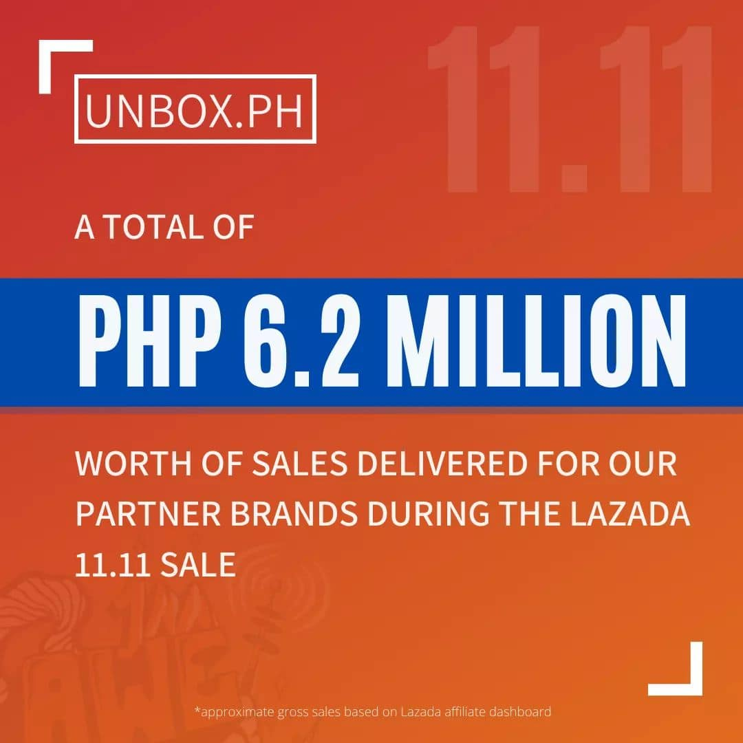 Unbox PH delivered 6.2M for brand partners in one day!