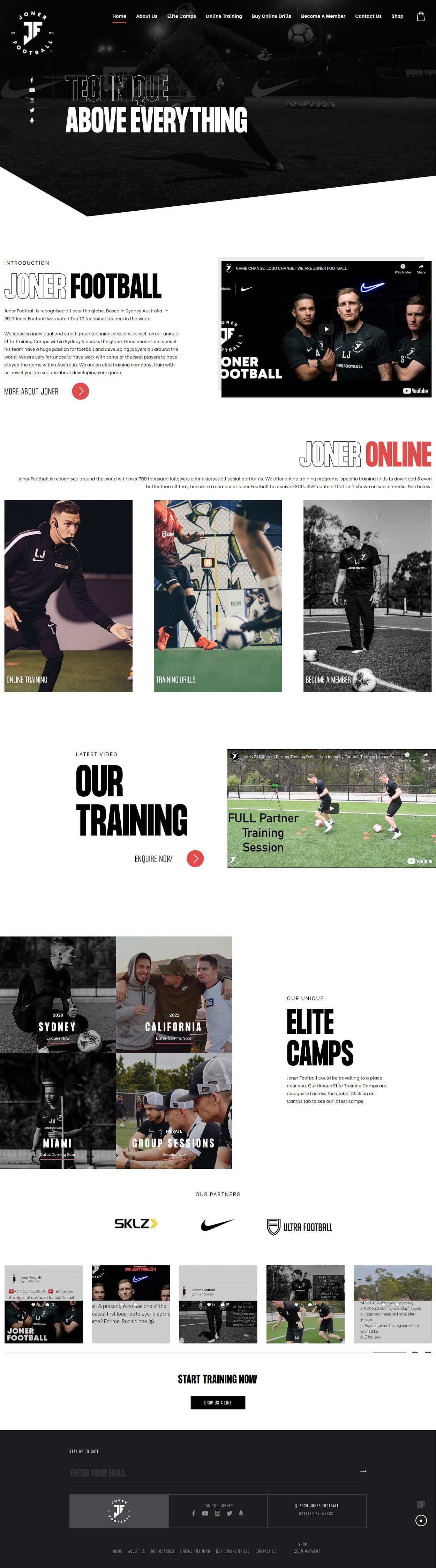 football-website-design