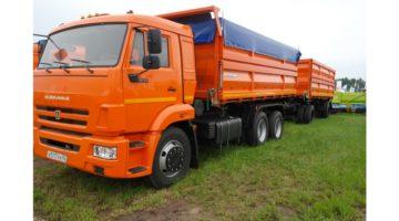 Самосвальный автомобиль зерновоз Камаз 45144, объем 20 куб.м