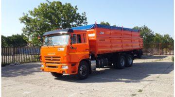Самосвальный автомобиль зерновоз Камаз 45144, объем 30 куб.м