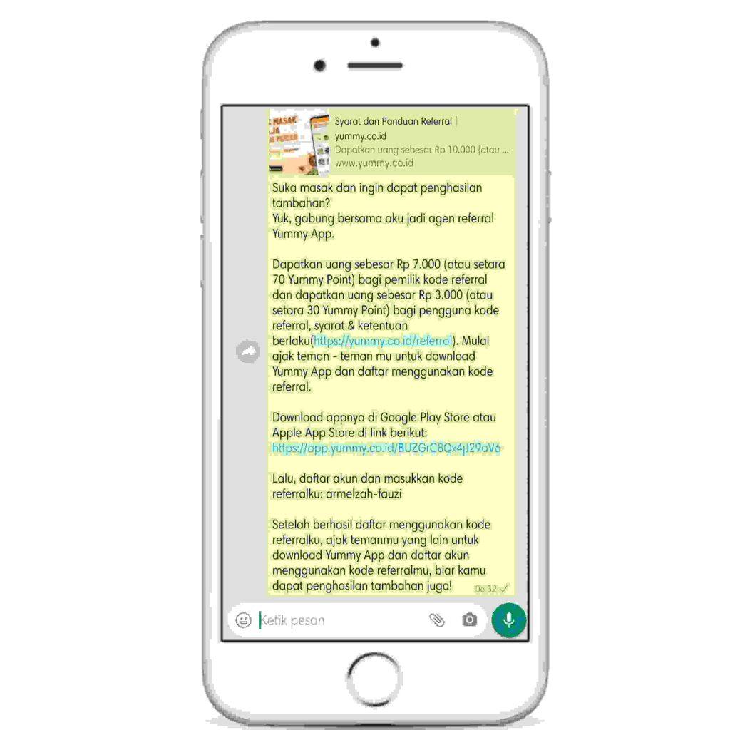referral aplikasi yummy app