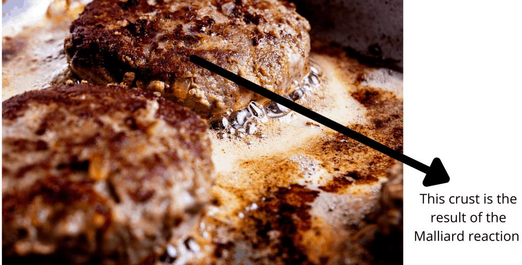 A browned burger