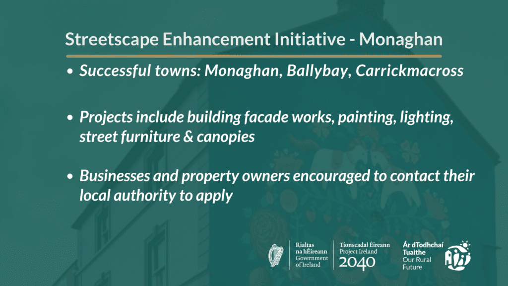 Monaghan Streetscape Enhancement Initiative Towns