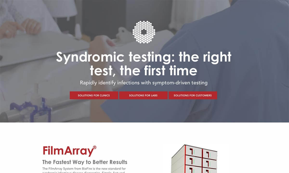 BioFire website home page v1