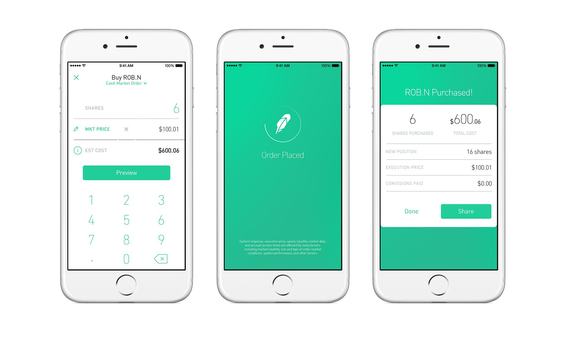 Robinhood app interface