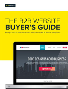 Bop Design B2B website buyer's guide