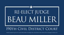 Vote Beau Miller for Judge