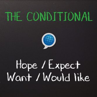 English Grammar hope expect want would like