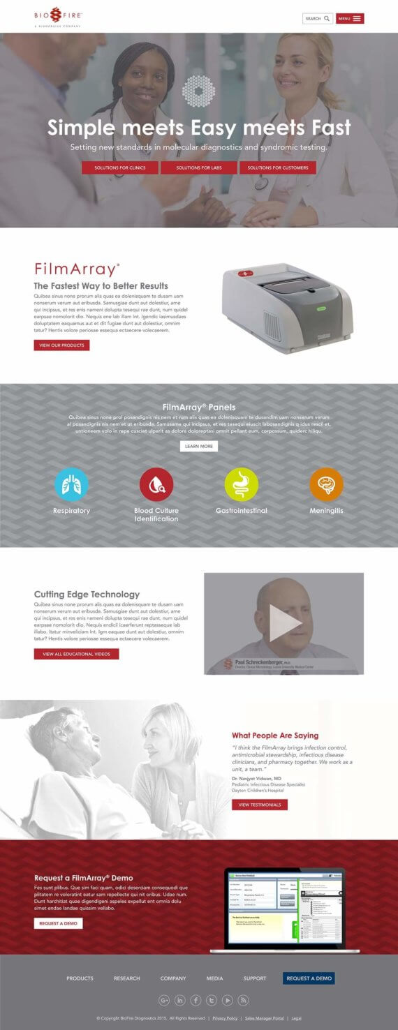 BioFire website home page