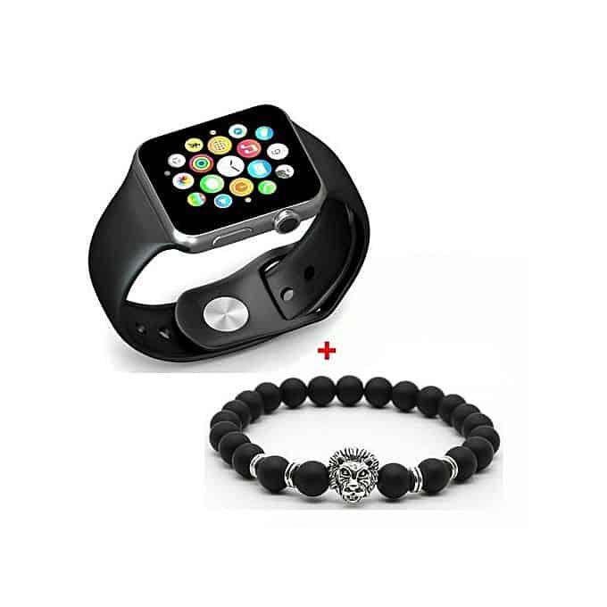 GT GT08 Smart Watch Montre Connectée avec carte sim - SILVER + Bracelets Lion Elegance