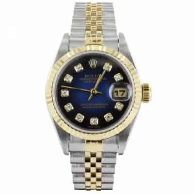 Reproduction Montre Rolex Luxe Fond Bleu