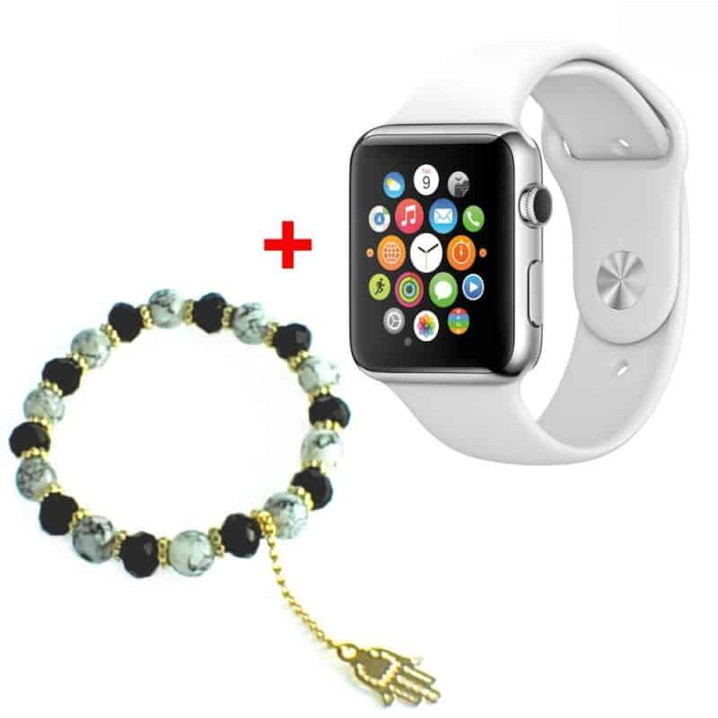 GT GT08 Smart Watch Montre Connectée avec carte sim - Blanc +  Bracelet pour Femme