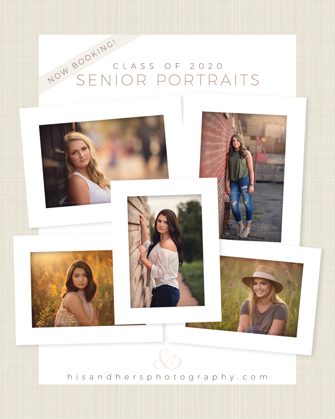 Now Booking   Class of 2020 Senior Portraits