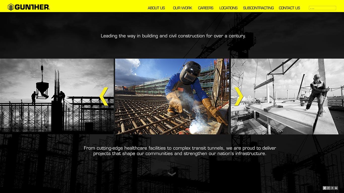 gunther construction web design