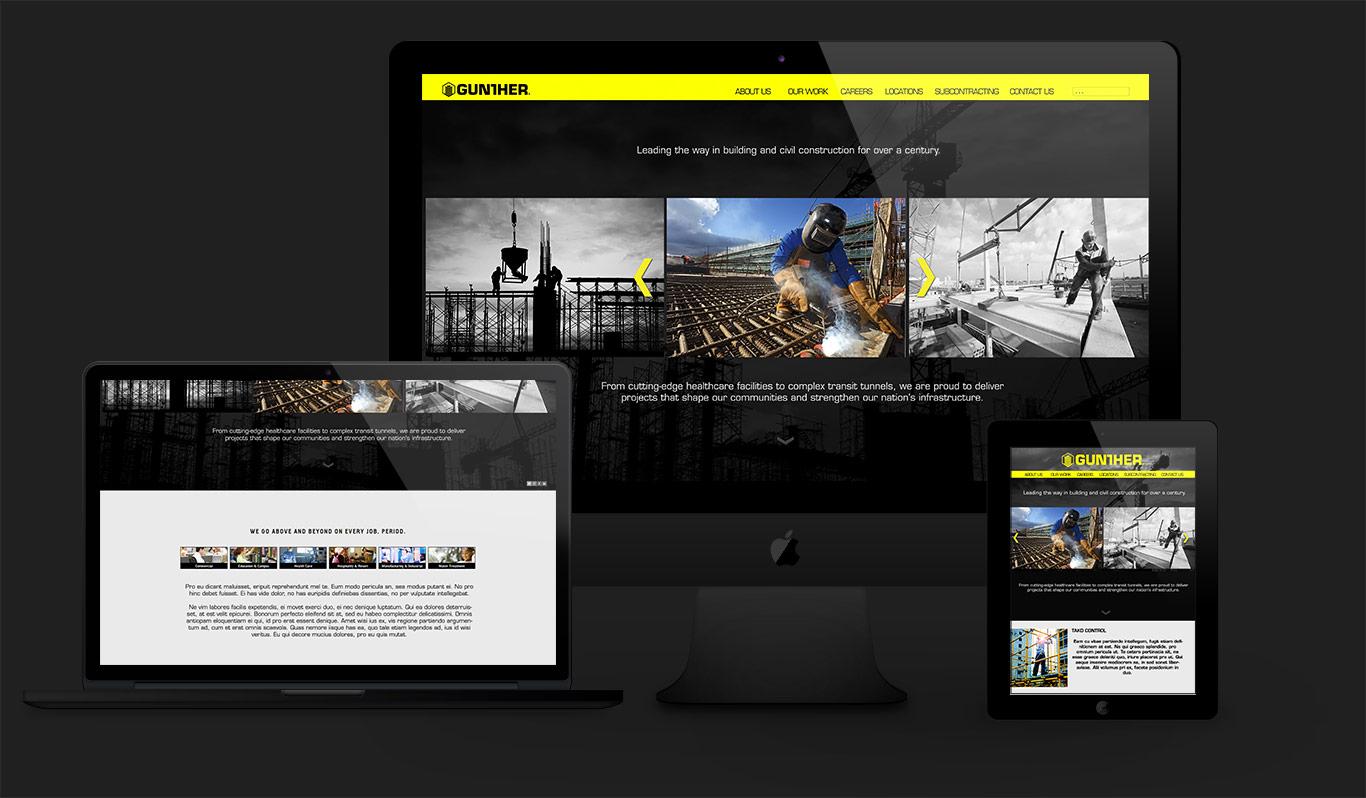 gunther construction website design