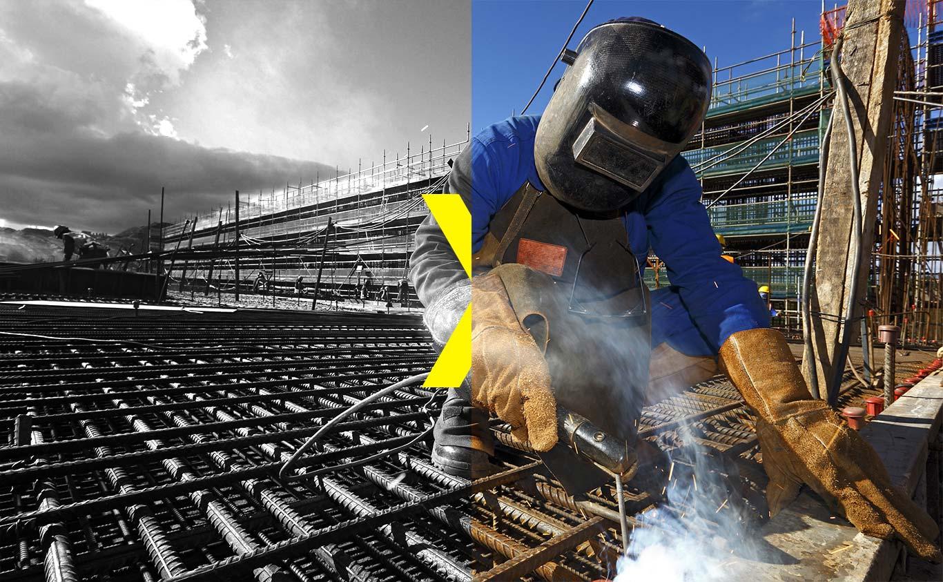 worker wearing logo gunther