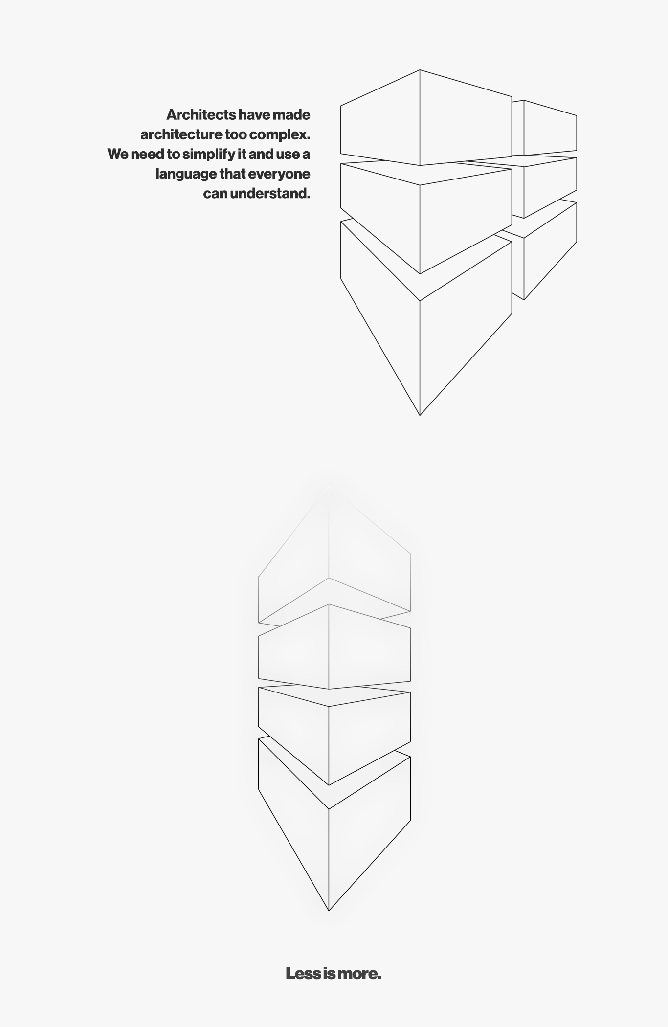 minimal architecture design