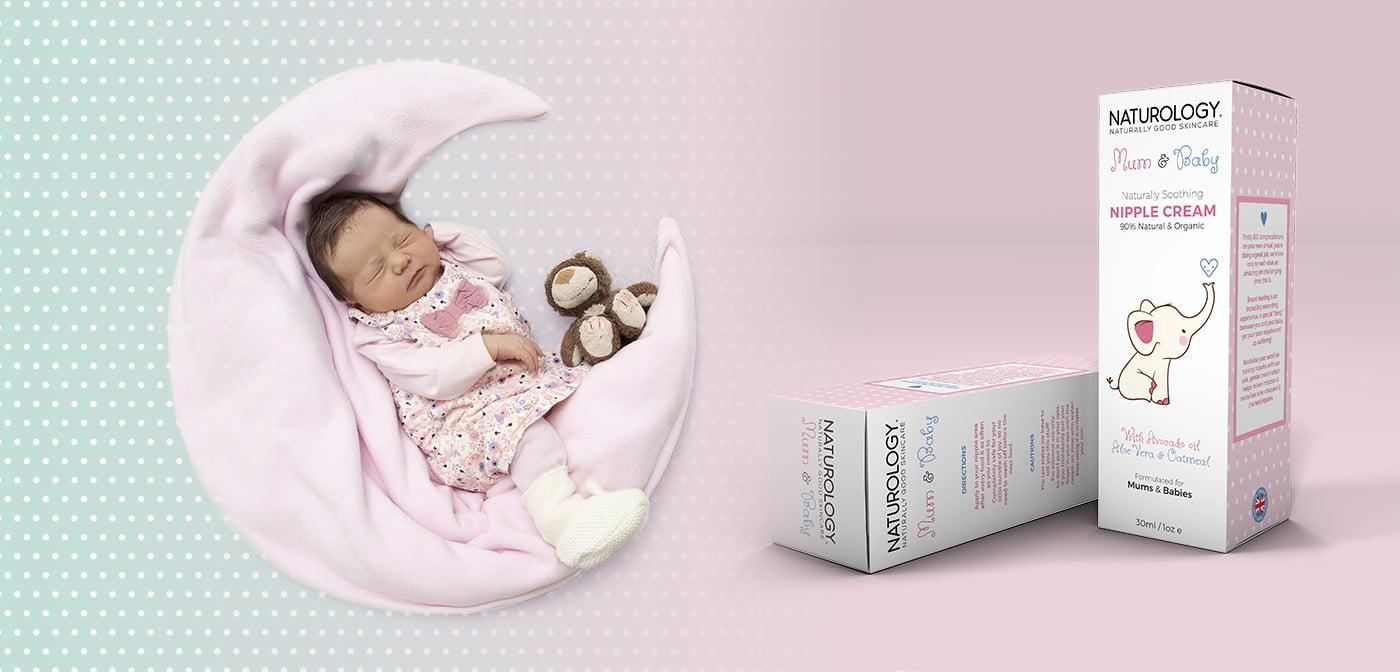 mom and baby packaging designed by vandalia studio