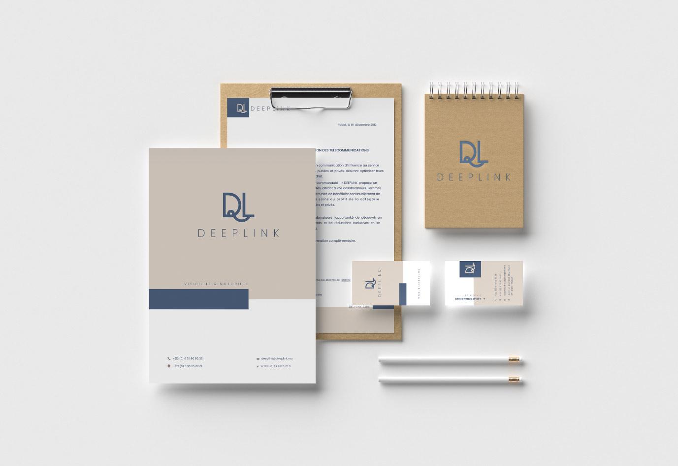 papeterie-Deeplink-agence de communications-vuenova