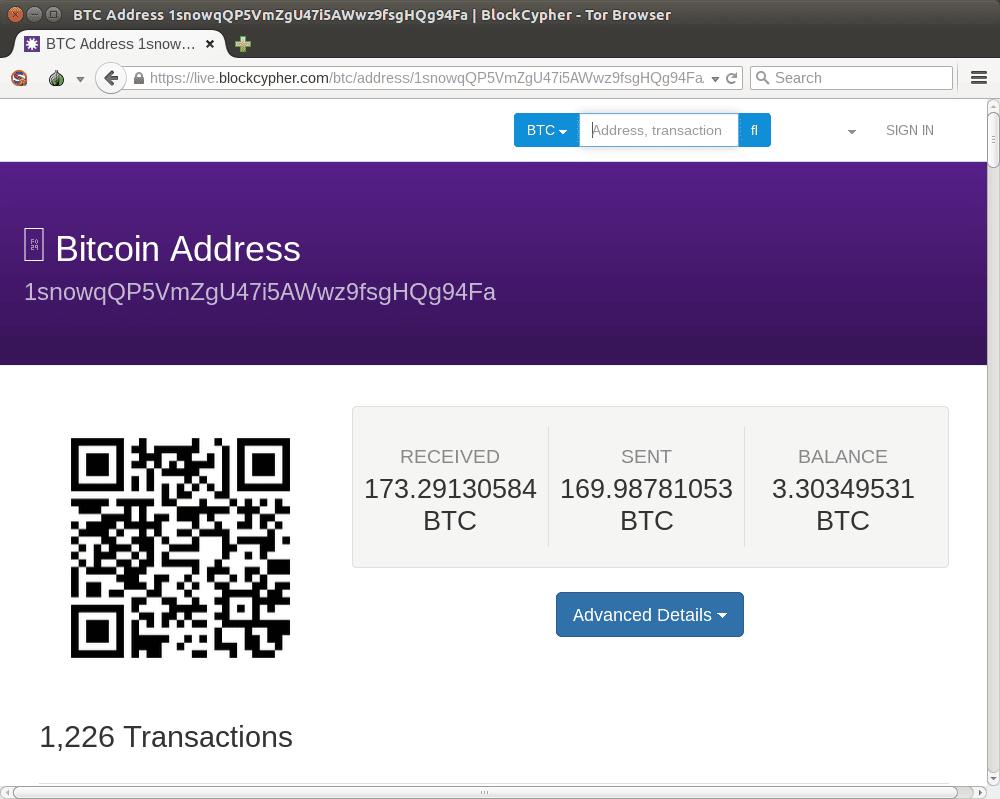 a screenshot of blockcypher