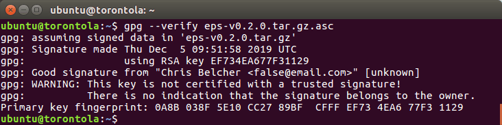 You guessed it, it's another command line screenshot.