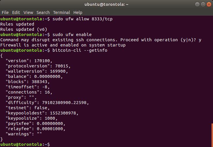 A screenshot of the terminal commands.