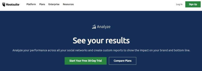 Hootsuite Analyze